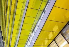 Arquitetura amarela abstrata imagem de stock royalty free