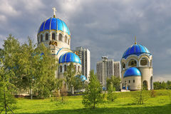 Churh ortodoxo antigo. Moscovo. Rússia. Foto de Stock