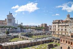 Arquitetura antiga de Roma Imagem de Stock Royalty Free