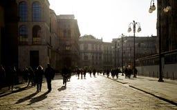 Arquitetura antiga e clássica em Milão Fotografia de Stock Royalty Free