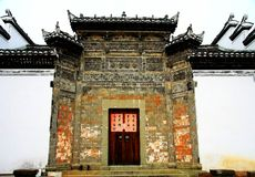 A arquitetura antiga na vila do bagua do zhuge, a cidade antiga da porcelana fotos de stock