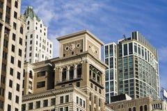 Arquitetura ao longo da avenida sul de Michigan imagem de stock royalty free
