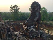 Arquitetura archeology ruínas Templo hindu, Siem Reap, Camboja fotos de stock
