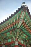 Arquitetura asiática antiga/Coreia do Sul Imagem de Stock Royalty Free