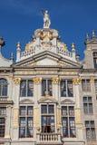 Arquitetura belga tradicional em Bruxelas Fotografia de Stock Royalty Free