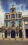 Arquitetura bonita das casas em Aveiro, Portugal Imagem de Stock