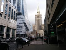 Arquitetura bonita de Varsóvia fotos de stock
