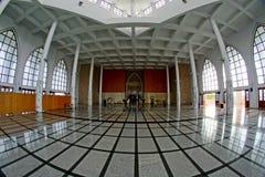 Arquitetura bonita dentro da mesquita da central de Songkhla foto de stock royalty free