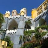 Arquitetura bonita do palácio Portugal de Pena foto de stock