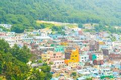 Arquitetura bonita na vila da cultura de Gamcheon em Busan imagens de stock royalty free