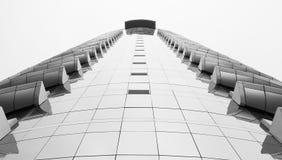 Arquitetura bonita preto e branco da construção imagem de stock