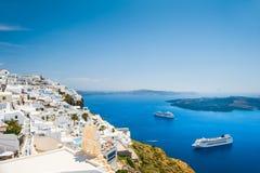Arquitetura branca na ilha de Santorini, Grécia Imagens de Stock Royalty Free