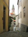 Arquitetura checa de Krumlov Fotografia de Stock