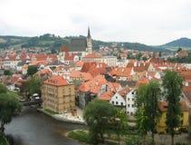 Arquitetura checa de Krumlov Imagem de Stock Royalty Free