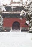 Arquitetura chinesa antiga no inverno fotografia de stock royalty free
