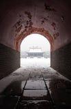 Arquitetura chinesa antiga no inverno fotos de stock