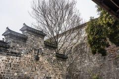 Arquitetura chinesa na borda da parede de Ming Dynasty fotografia de stock royalty free