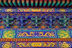 Arquitetura chinesa no templo chinês imagem de stock