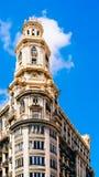 Arquitetura clássica das construções em Valência Imagens de Stock