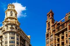 Arquitetura clássica das construções em Valência Fotos de Stock