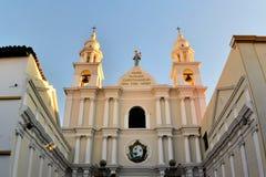 Arquitetura colonial branca no sucre, Bolívia Imagem de Stock Royalty Free