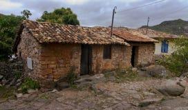 Arquitetura colonial brasileira da alvenaria de pedra Imagens de Stock Royalty Free