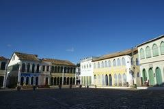 Arquitetura colonial colorida Lencois Bahia Brazil Fotos de Stock