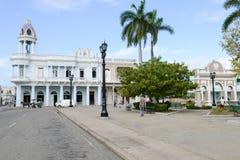 Arquitetura colonial cubana na cidade velha de Cienfuegos, Cuba Imagens de Stock