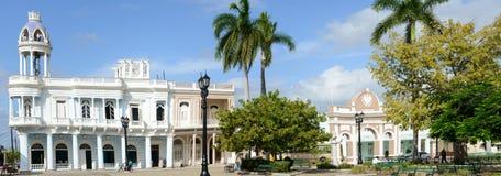 Arquitetura colonial cubana na cidade velha de Cienfuegos, Cuba Fotografia de Stock