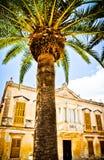 Arquitetura colonial do estilo em Ciutadella, Minorca Fotografia de Stock Royalty Free