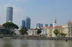Arquitetura colonial e Victoria Theatre e sala de concertos Cingapura Fotos de Stock Royalty Free