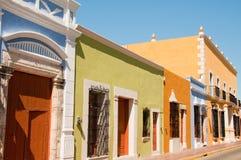 Arquitetura colonial em Campeche Imagens de Stock Royalty Free