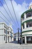 Arquitetura colonial em estúdios do mundo de Hengdian, China Foto de Stock