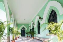 Arquitetura colonial portuguesa da igreja na porcelana de macau Imagens de Stock