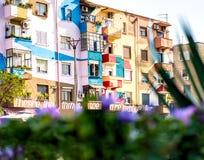 Arquitetura colorida de Tirana Fotografia de Stock