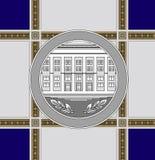 Arquitetura comemorativa da medalha ilustração do vetor