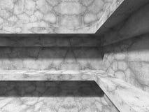 Arquitetura concreta Backgrou industrial abstrato da construção ilustração do vetor