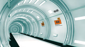 arquitetura 3d futurista Fotografia de Stock Royalty Free
