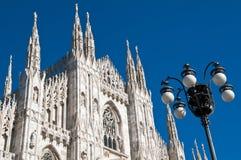 Arquitetura da catedral de Milão Foto de Stock Royalty Free
