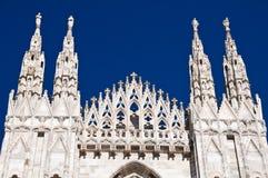 Arquitetura da catedral de Milão Fotos de Stock Royalty Free