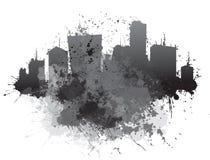 Arquitetura da cidade abstrata do vetor Imagem de Stock Royalty Free