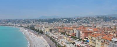 Arquitetura da cidade agradável, Riviera francês Imagens de Stock