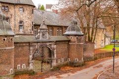Arquitetura da cidade Aix-la-Chapelle, Gemany Imagem de Stock Royalty Free