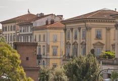 Arquitetura da cidade antiga de Lucca, Itália Imagens de Stock