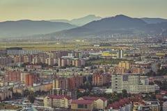 Arquitetura da cidade aérea de Brasov Imagens de Stock Royalty Free
