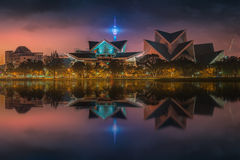 Arquitetura da cidade bonita da skyline de Kuala Lumpur Foto de Stock Royalty Free