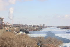 Arquitetura da cidade bonita do rio com fotografia de stock royalty free