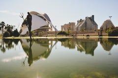 Arquitetura da cidade bonita em Valência fotos de stock royalty free