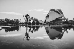 Arquitetura da cidade bonita em Valência fotografia de stock royalty free