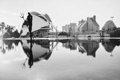 Arquitetura da cidade bonita em Valência foto de stock